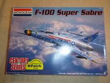A vintage Monogram un-built plastic kit for a F-100 Super Sabre