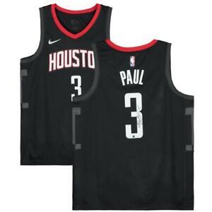 CHRIS PAUL Autographed Rockets Nike Black Statement Edition Jersey FANATICS