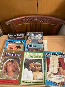12 Stories in 6 German Romance Mahazine Book Lot 1 free Damaged Cover