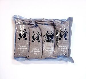 4 Pack 75g Activated Bamboo Charcoal Air Purifying Bags for Home Car & Office