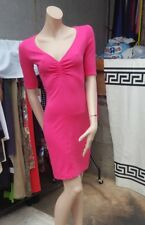 Ladies Lovely H&M  Hot  Pink Stretchy V Neck  Bodycon Dress   UK 8  EUR 34