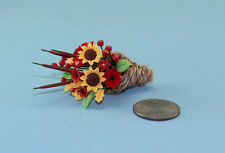 Lovely Dollhouse Miniature Floral Cornucopia Arrangement for Thanksgiving #ZA201