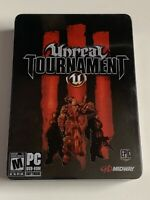 Used Unreal Tournament 3 Steelbook W/ Artbook & DVD & PC Game Epic Midway 2007