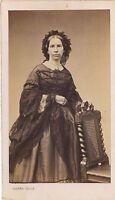 Pierre Petit París Retrato Un Mujer Moda CDV Vintage Albúmina Aprox 1860
