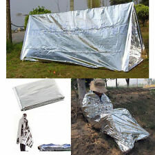 2 Person Tube Tent Emergency Survival Hiking Camping Shelter Outdoor Portable KY