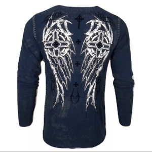 XTREME COUTURE by AFFLICTION Men's T-shirt DARKER SIDE Thermal Biker MMA S-2X