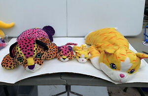 Lisa Frank Sunflower and Hunter Stuffed Cat Animal Plushes Large and Small