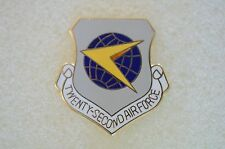 US USA USAF 22nd Air Force Military Hat Lapel Pin