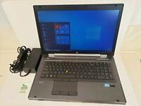 """HP Elitebook 8770W 17.3"""" HD+ Laptop Core i5-3360M 8GB RAM 256GB SSD Win 10 Pro"""