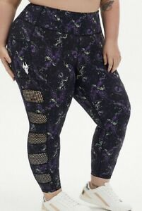 Torrid Disney Maleficent Dragon Crop Active Legging with Pockets Size 1 14-16
