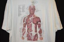 Vintage 1987 Kurt Cobain Nirvana Chicago Anatomical Chart Tee Oneita Tag Sz XXL