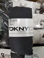 810R1 DKNY 0B571 Luxe Opaque Comfort Control Top Tights Flannel Gray TALL