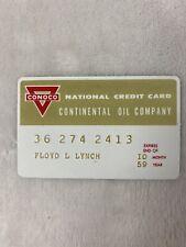 1958 CONOCO National Credit Card M Continental Oil Company