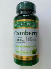 Nature's Bounty Cranberry Plus Vitamin C ( 120 Softgels ) Fruit 4200mg Urinary