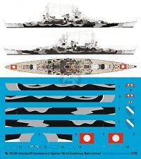 Peddinghaus 1/1250 Scharnhorst German Battleship Markings WWII Norway 1943 3291
