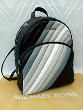 Michael Kors Genuine ABBEY Leather Quilted Backpack Ombré Black BNWT RRP £399