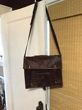 Leather Messenger Bag Brown-BEAUTiFUL
