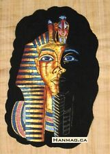 Egyptian Papyrus Painting Poster + King Tutankhamen + 16X24 Inches + Handmade #8