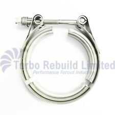 "3"" M8 Heavy Duty V Band Turbo Exhaust Downpipe Manifold Flange Clamp Stainless"