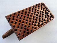rare batte ou palle à chaume - outil ancien de chaumier
