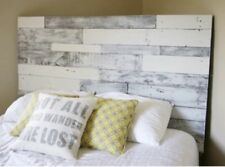 """King Size Bed Reclaimed Pallet wood DIY Rustic Headboard 78"""" wide x 30"""" tall"""
