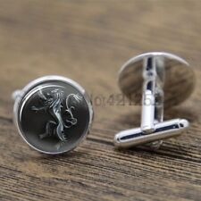 Cufflinks Glass Silver Game Of Thrones House Lannister New & Sealed