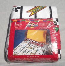 Race Car Mickey Blanket Disney Twin-Full Polyester Acrylic Perma-Nap New Unused