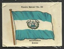 More details for ardath - flags 4th series (silk) - #50 nicaragua, ensign