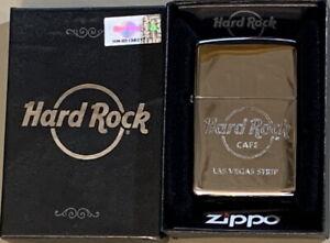 Hard Rock Cafe LAS VEGAS Silver Chrome ZIPPO Lighter New w/ Sealed Sticker + Box