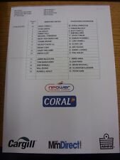 03/09/2011 Colour Teamsheet: Hereford United v Dagenham And Redbridge  (Folded).