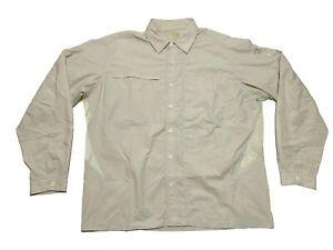 Mountain Hardwear Khaki Canyon Button Up Long Sleeve Shirt Mens Large
