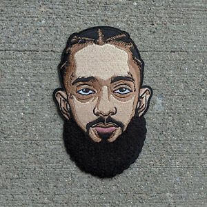 Nipsey Hussle Chenille Patch 6 inch (Iron on & sew on), Rap Icon, Hip Hop Legend