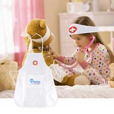 Kids Doctor Nurse White Dress Cosplay Fancy Dress Costume Outfit Headband Apron