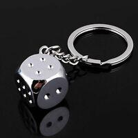 Dice Keychain Key Chain Ring Key Fob Gambling Props Keyring Key Holder Creative