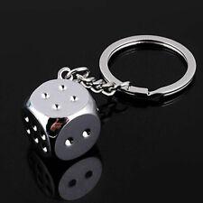 New Dice Keychain Key Chain Ring Key Fob Gambling Props Keyring Key Holder Gift