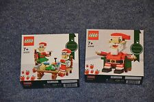 Lego Weihnachtsmann 40206 + Helfende Elfen 40205 NEU + OVP