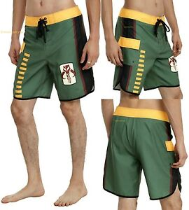 NEW STAR WARS BOBA FETT BOUNTY HUNTER BOARD SHORTS SWIM TRUNKS FOR MEN FREE SHIP