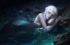 Home Artwork Wall Decor Mermaid Tears Oil Painting Picture Printed On Canvas