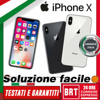 GRADO A+++ SMARTPHONE APPLE IPHONE X 64GB RIGENERATO ORIGINALE! 12 MESI GARANZIA