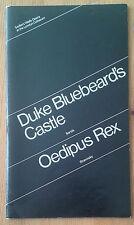Duke Bluebeard's Castle & Oedipus Rex programme Sadler's Wells Opera 1972 Don