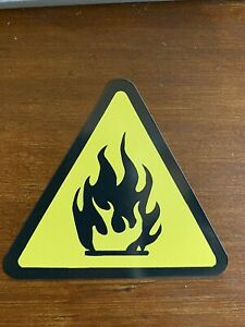 Fire Warning Sticker Flamable - Buy ANY 4 for $1.75 Each Storewide!!