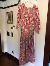 Vintage 70s Floral Boho Hippie Festival Maxi Dress Sz M