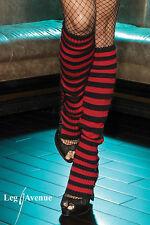 Sexy Rouge à Rayures Noir Jambières Guêtres en mailles Club Wear Festival Danse Gogo