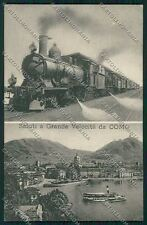Como Città Saluti a Grande Velocità Treno ABRASA cartolina QK3069