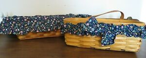 Peterboro Fabric Basket Liner Blue Country Floral Cloth Protector & Garter