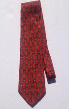 Ermenegildo Zegna Silk Necktie Italy Red Blue Yellow Square Geometric