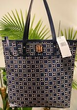 NWT Tommy Hilfiger Blue Navy Logo Tote Shoulder Bag Purse