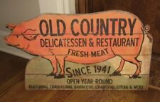 BiG Meat Market PIG SIGN*Primitive Farmhouse/French Country/Restaurant Decor