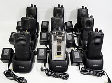 Lot Of 9 Kenwood TK-3101 UHF 2 Way Radio Transceiver 15 Channel Charger W08-0552