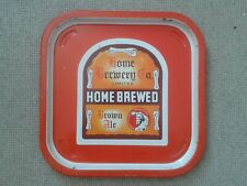 HOME BREWERY CO. LTD. – HOME BREWED – BROWN ALE – PUB BEER TRAY